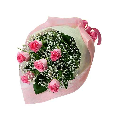 Touching Love Bouquet with Pink Embellishment