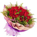 Bright Red Roses Hand Bouquet of Love