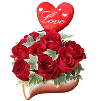 Dazzling Heart and Soul Roses Bunch