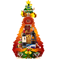 Captivating Seasonal Cheer Wine n Gourmet Hamper