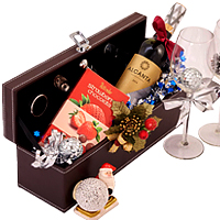 Joyful Sincerest Thanks Wine n Chocolate Gift Hamper