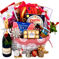 Attractive Festive Gourmet Gift Basket