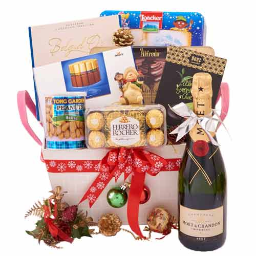 Innovative Double Celebration Gift Basket <br>