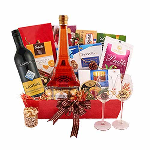 Classy Pure Elegance Gift Basket of Delicacies<br>