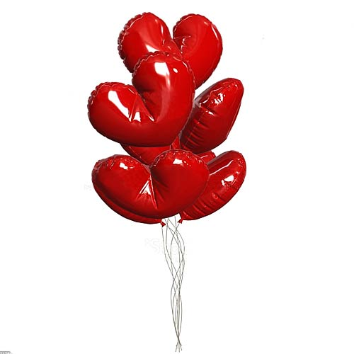 Charming Valentine Special Six Heart Shaped Balloon for Special One
