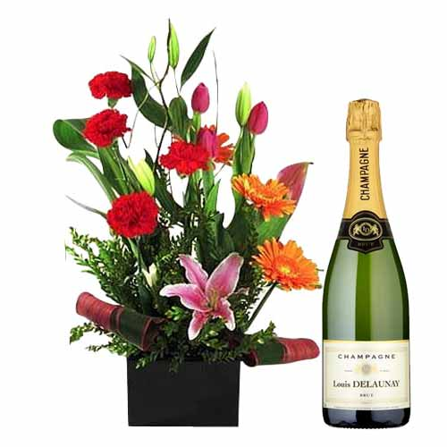 Exotic Flowers with Champagne
