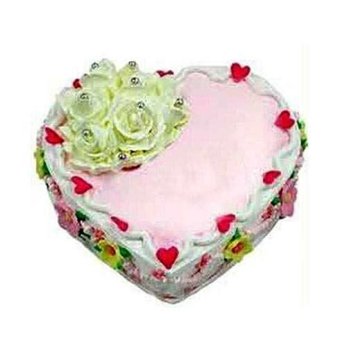 Ecstatic Heart Shaped Cake