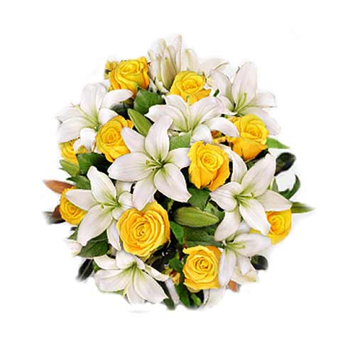 Spectacular Selection of Seasonal Flowers Bouquet on Valentines Day