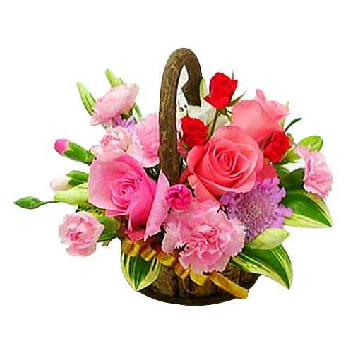 Graceful Valentines Day Special Pink Flowers Bouquet