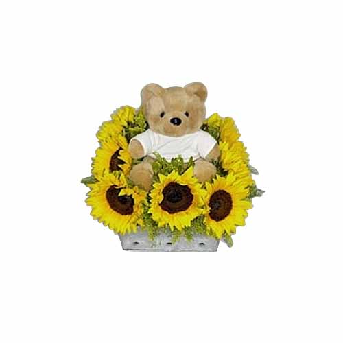 Teddy with Sunflower